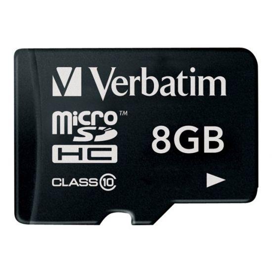 Verbatim - flashhukommelseskort - 8 GB - microSDHC
