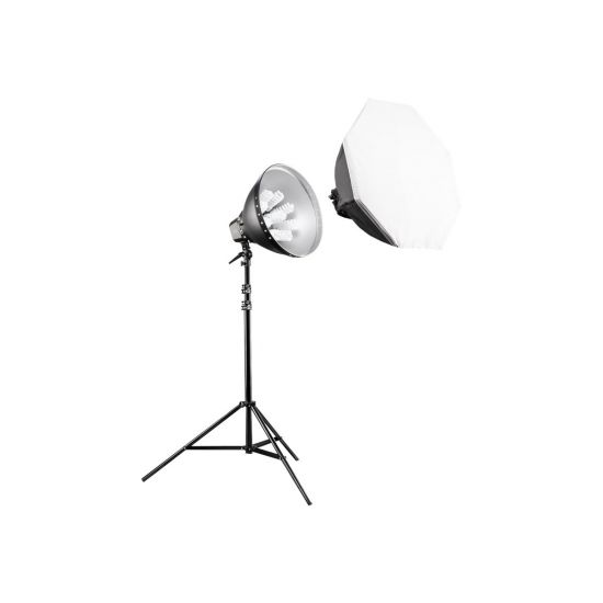 Walimex Pro Daylight 1260 Set with Softbox - lampehoved