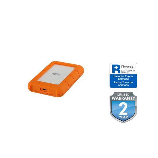 LaCie Rugged USB-C &#45 2TB - USB 3.1 Gen 1 - 24 pin USB-C