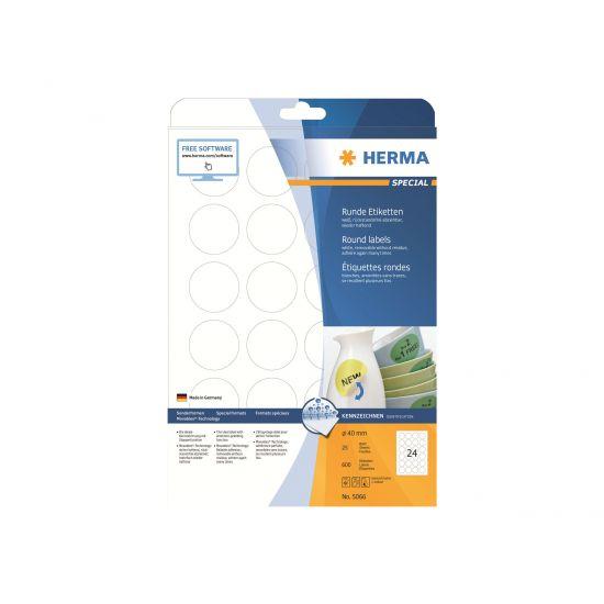 HERMA Special - etiketter - 600 etikette(r) - 40 mm rund