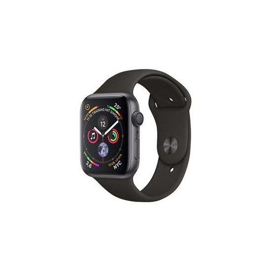 Apple Watch Series 4 (GPS) - rumgråt aluminium - smart ur med sportsbånd - sort - 16 GB