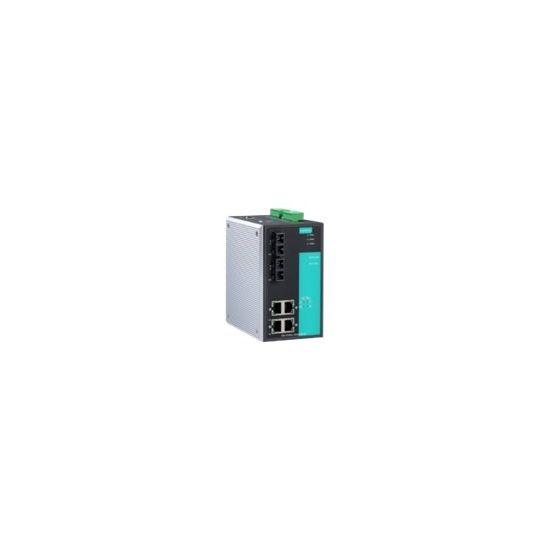 Moxa EDS-P506A-4POE-MM-SC-T - switch - 6 porte - Administreret