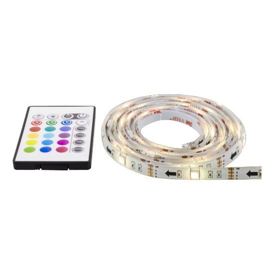 NordicHome LED strip, 4x50cm, 12 different colors, RGB, remote control, USB