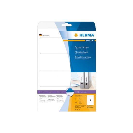 HERMA Special - uigennemsigtige mappemærkater - 100 etikette(r) - 192 x 59 mm
