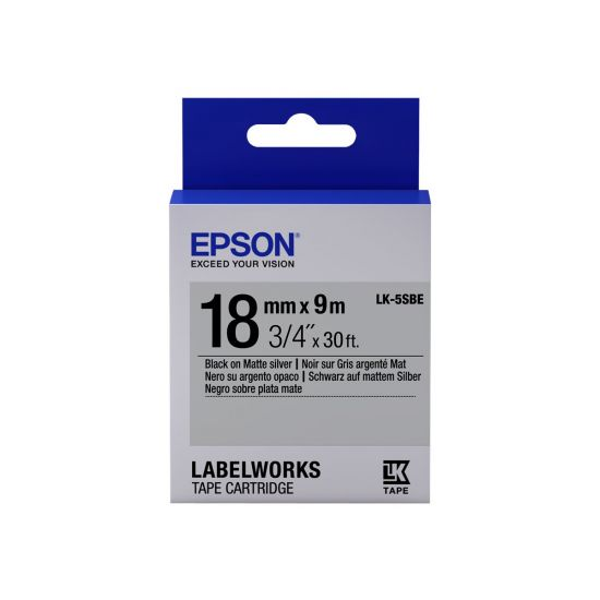 Epson LabelWorks LK-5SBE - mærkattape - 1 rulle(r) - Rulle (1,8 cm x 9 m)