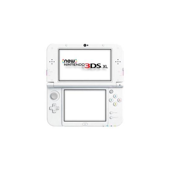 New Nintendo 3DS XL - håndholdt spillekontrolenhed - hvid, rosa
