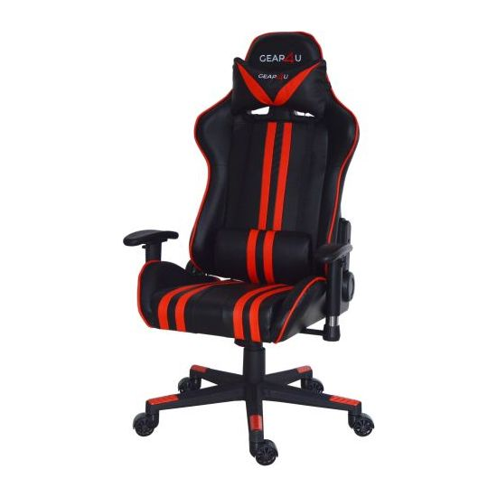 GEAR4U Elite Gamer Stol Sort/Rød