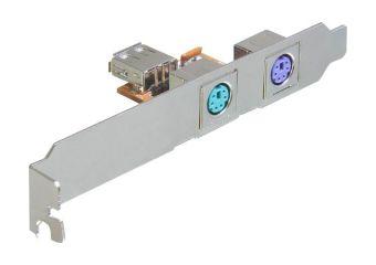 DeLOCK Rear Bracket USB > 2 x PS/2