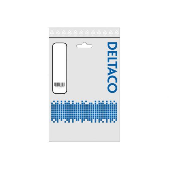 DELTACO Audiokabel 3,5mm jack til 3,5mm jack 0,5 m