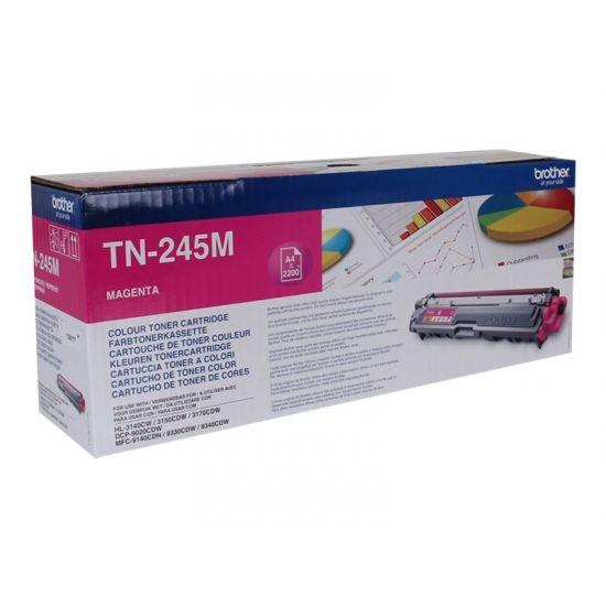 Brother TN245M - Højtydende - magenta - original - tonerpatron