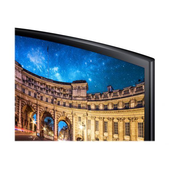 "Samsung CF390 Series C27F390FHU &#45 LED-Skærm 27"" AMD FreeSync VA 4ms - Full HD 1920x1080 ved 60Hz"