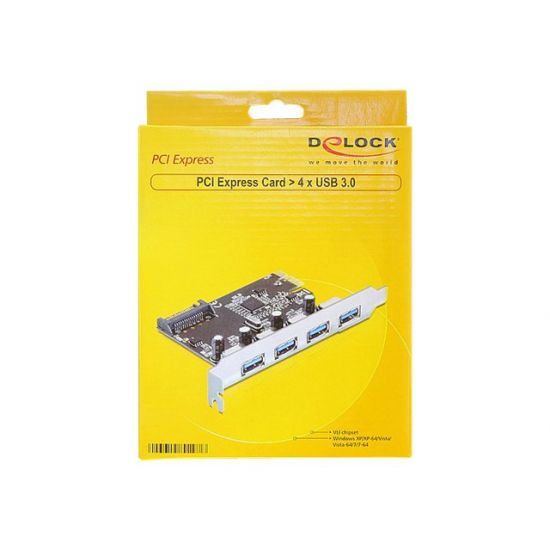 DeLock PCI Express Card > 4 x USB 3.0 - USB-adapter