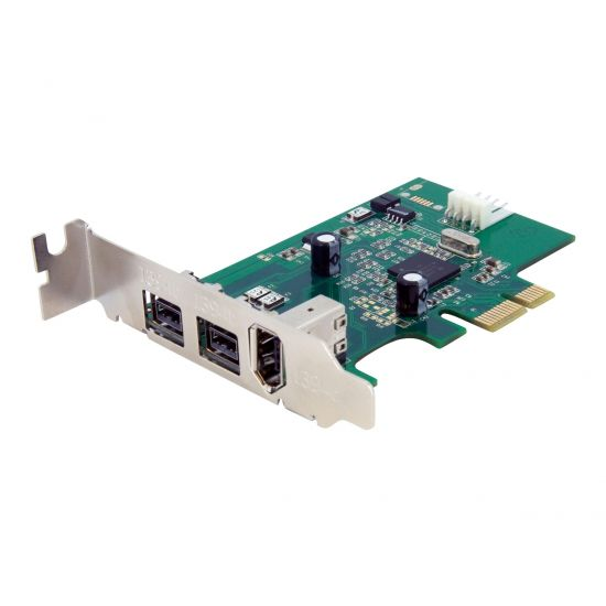 StarTech.com 3 Port 2b 1a Low Profile 1394 PCI Express FireWire Card Adapter