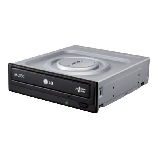 "LG GH24NSD1 Super Multi &#45 DVD±RW (±R DL) / DVD-RAM - 5.25"" x 1/2H &#45 Serial ATA"
