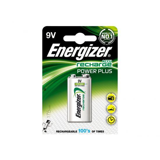 Energizer Accu Recharge Power Plus - batteri - 9V - NiMH