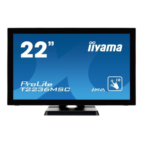 "Iiyama ProLite T2236MSC-B2 &#45 LED-Skærm 22"" A-MVA 8ms - Full HD 1920x1080"