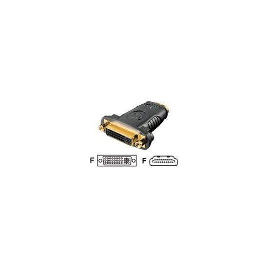 Deltaco videoadapter - HDMI Type A hun til DVI-D hun