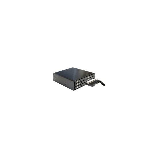 """DeLOCK 5.25"""" Mobile Rack for 6 x 2.5″ SATA HDD / SSD - hus til lagringsenhed"""