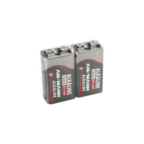 ANSMANN E-BLOCK - batteri - 6LF22 - Alkalisk x 2