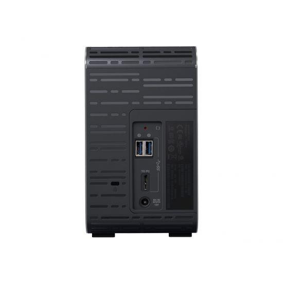WD My Book Duo WDBLWE0080JCH - USB 8TB (2x4TB) RAID 0/1 Trækulsgrå