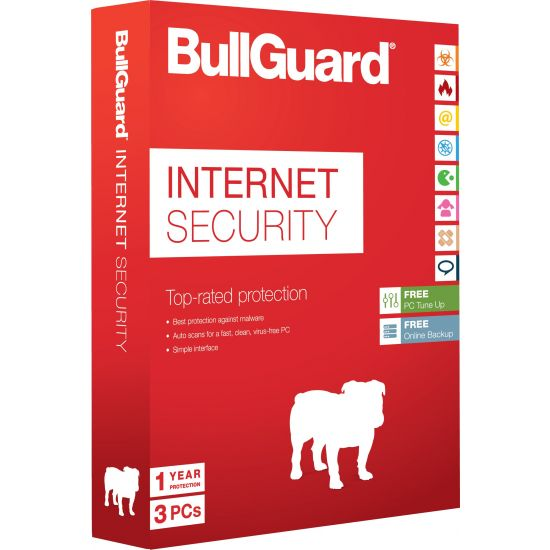 BullGuard Internet Security - 1 år, 3 enheder, mediefri