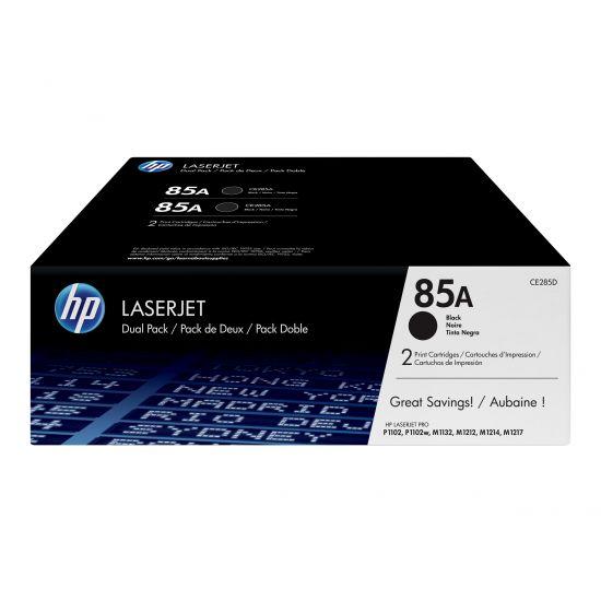 HP 85A - 2 pakker - sort - original - LaserJet - tonerpatron (CE285AD)