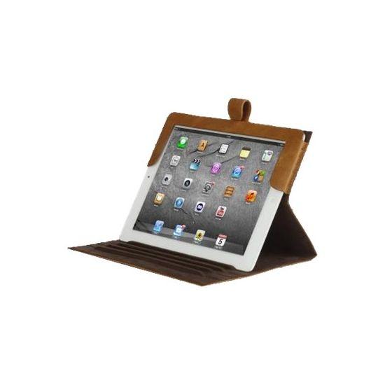 D. Bramante 9.7´´ Folio til iPad 2, 3 og 4 gen. i Gylden tan Læder