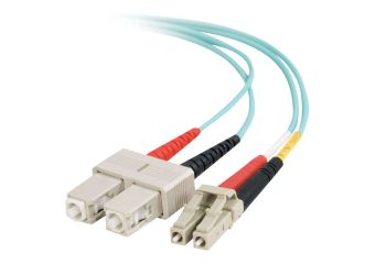 C2G LC-SC 10Gb 50/125 OM3 Duplex Multimode PVC Fiber Optic Cable (LSZH)