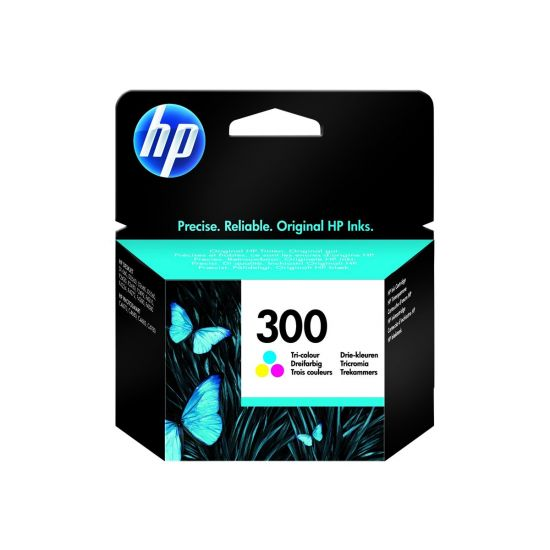 HP 300 - farve (cyan, magenta, gul) - original - blækpatron