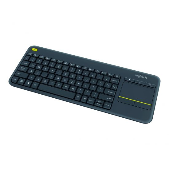 Logitech K400 Professional - tastatur - med touchpad - Nordisk - sort