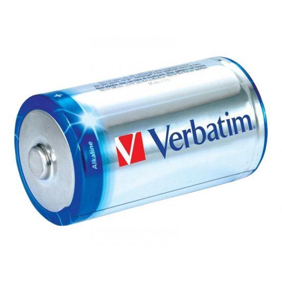 Verbatim batteri - C - Alkalisk x 2