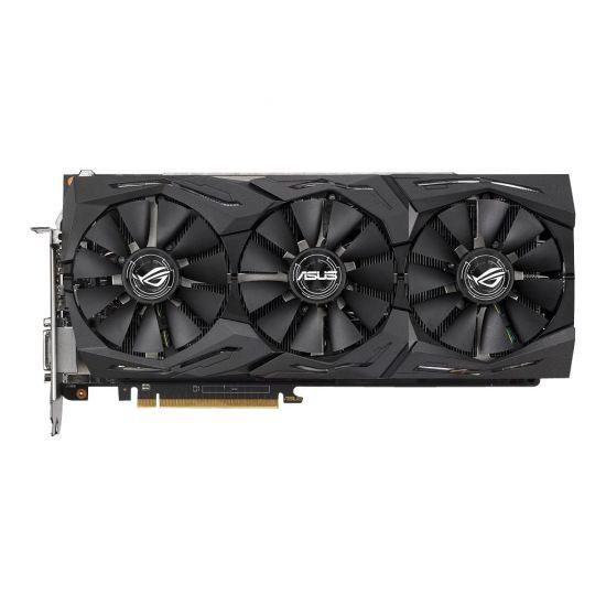 ASUS ROG-STRIX-RXVEGA64-O8G-GAMING &#45 AMD Radeon RXVEGA64 &#45 8GB HBM2 - PCI Express 3.0 x16