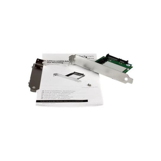StarTech.com SATA to mSATA SSD Adapter w/ Full and Low Profile Brackets - lagringskontrol - SATA 6Gb/s - PCIe