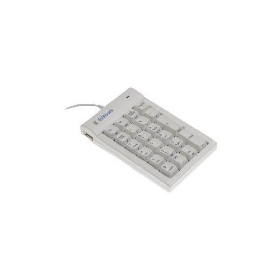 Bakker Elkhuizen Goldtouch Numeric - tastatur - sort