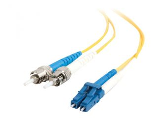 C2G LC-ST 9/125 OS1 Duplex Singlemode PVC Fiber Optic Cable (LSZH)