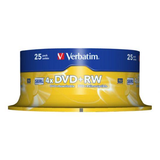 Verbatim - DVD+RW x 25 - 4.7 GB - lagringsmedie
