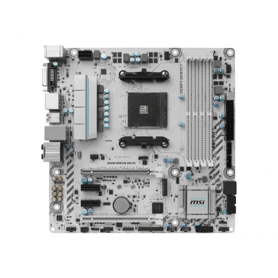 MSI B350M MORTAR ARCTIC - bundkort - micro-ATX - Socket AM4 - AMD B350 FCH