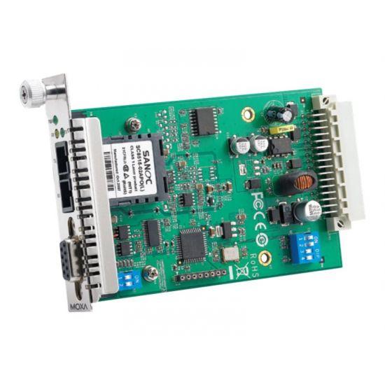 Moxa TCF-142-S-SC-RM - fibermedieomformer - RS-232, RS-485, RS-442