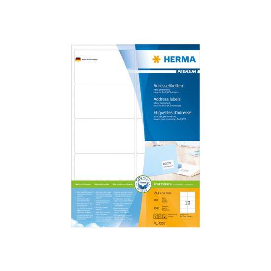 HERMA Premium - laminerede adressemærkater - 1000 etikette(r)