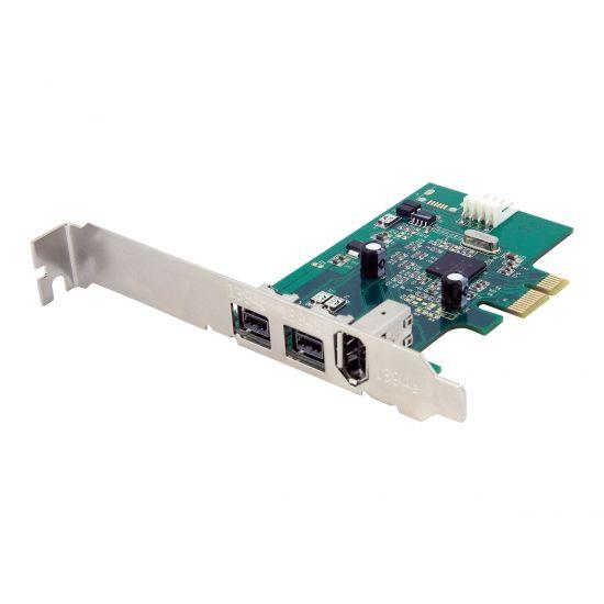 StarTech.com 3 Port 2b 1a 1394 PCI Express FireWire Card Adapter - FireWire adapter - 2 porte