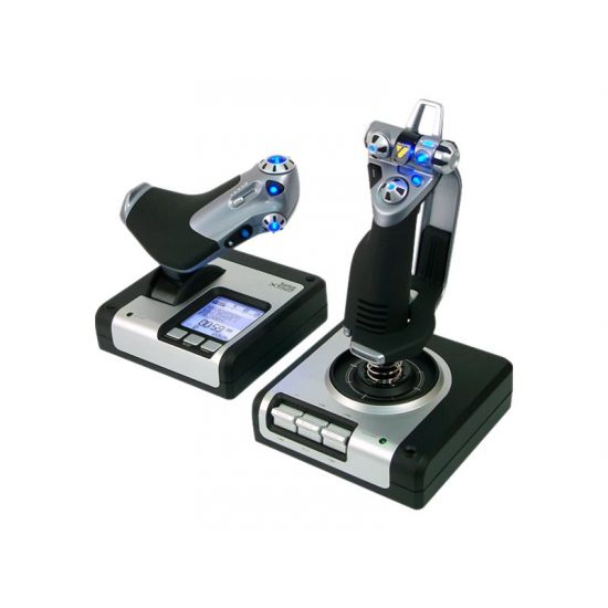 Saitek Pro Flight X52 Flight System - joystick og speeder - kabling