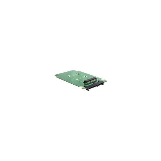 DeLOCK Converter SATA 22 pin > mSATA - lagringskontrol - SATA 3Gb/s - SATA 3Gb/s