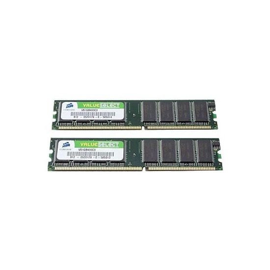 Corsair Value Select - DDR - 2 GB: 2 x 1 GB - DIMM 184-PIN