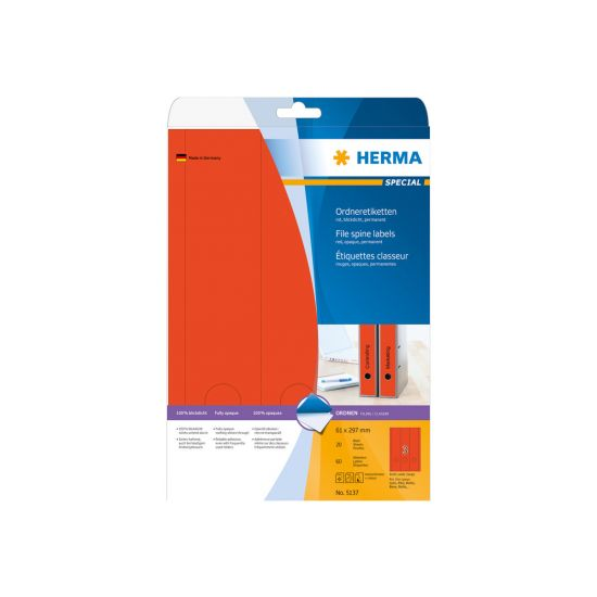 HERMA Special - uigennemsigtige mappemærkater - 60 etikette(r) - 61 x 297 mm