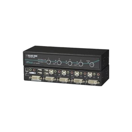 Black Box ServSwitch DT with USB 2.0 Transparent - KVM / audio / USB switch - 4 porte