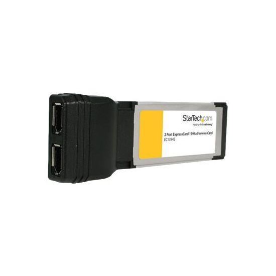 StarTech.com 2 Port ExpressCard Laptop 1394a Firewire Adapter Card - FireWire adapter