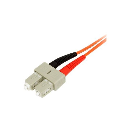 StarTech.com 2m Fiber Optic Cable - Multimode Duplex 50/125 - LSZH - LC/SC - netværkskabel - 2 m
