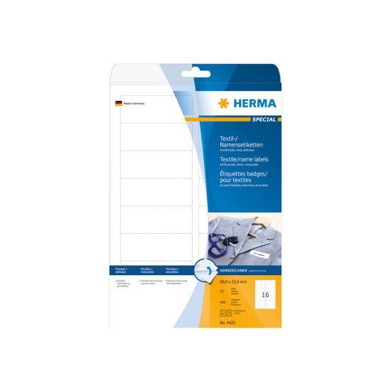 HERMA Special - kunstige navneskiltmærkater - 400 etikette(r) - 88.9 x 33.8 mm