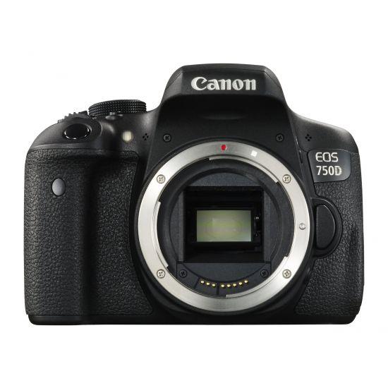 Canon EOS 750D - digitalkamera - kun kamerahus