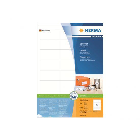 HERMA Premium - laminerede etiketter - 4800 etikette(r) - 66 x 33.8 mm